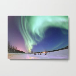 Northern Lights of Alaska Photograph Metal Print