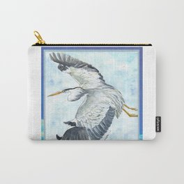 Soaring Heron Carry-All Pouch