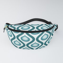 Abstract Peacock - Teal Color Vintage Pattern Fanny Pack