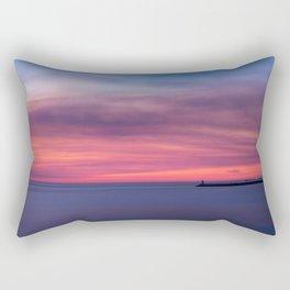 Red sunset over the ocean Rectangular Pillow