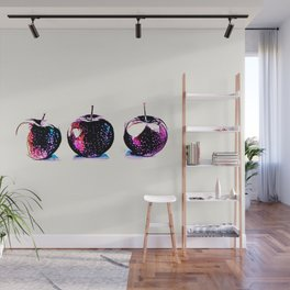 Three Red Apples Wall Mural