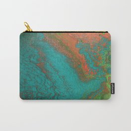 Rusty Jade: Acrylic Pour Painting Carry-All Pouch