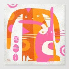 DOUBLE BUNNY Canvas Print