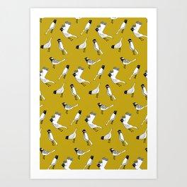 Bird Print - Mustard Yellow Art Print