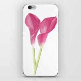 calla lily iPhone Skin