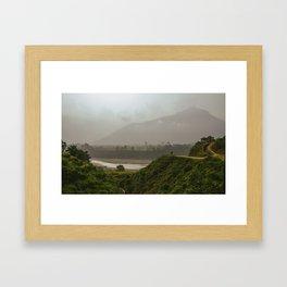 Nepal Mystic Mountain + Shaman Framed Art Print