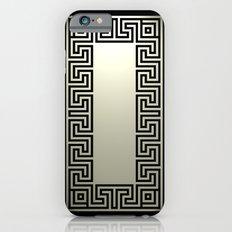 Greek Key black iPhone 6s Slim Case