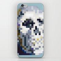 8bit iPhone & iPod Skins featuring 8Bit Skull by Delton Demarest