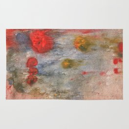 Rosy brown clouded wash painting Rug