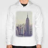 nyc Hoodies featuring NYC by Chernobylbob
