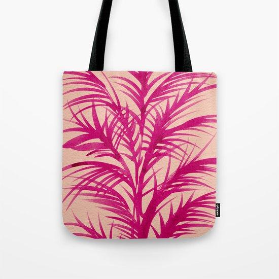 Pink Palms Tote Bag