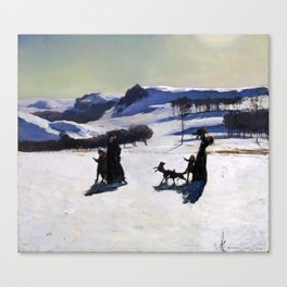 Snow Fields (Winter in the Berkshires) Canvas Print