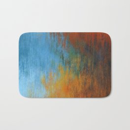 Abstract tri color painting Bath Mat