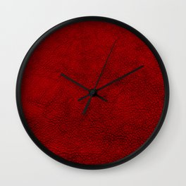 Saddle in Red Wall Clock