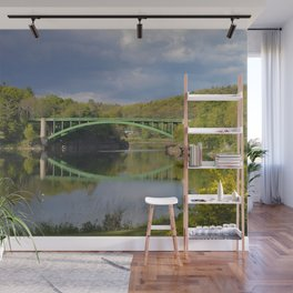 Summer Storm Clouds - Delaware River Wall Mural