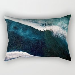 Abstract Stormy Sea Rectangular Pillow