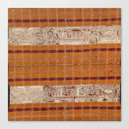 Tapis Lampong South Sumatra Indonesian Wrap for Woman Canvas Print