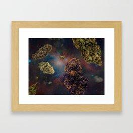 Weed in Space Framed Art Print