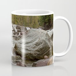 Waterfall - McDonald Creek - Glacier National Park Coffee Mug