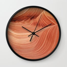 Wave Rock in the Coyote Buttes Wall Clock