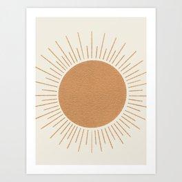 Sun Ray Mid-century Art Print