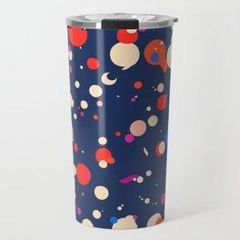 Spotty in blue Travel Mug