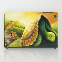 neil gaiman iPad Cases featuring Tortoise and the Hare, by Neil Price by Neil Price