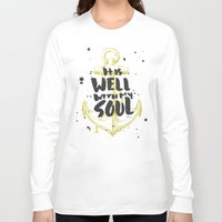scripture Long Sleeve T-shirts featuring It is Well With My Soul by Zeke Tucker