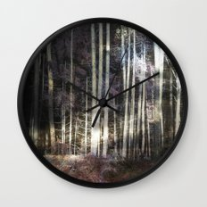 Woodland Night Wall Clock
