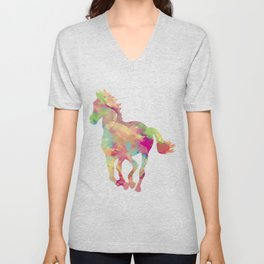 Abstract horse Unisex V-Neck