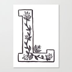 L is for Canvas Print