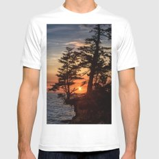 Sunset through the Trees Mens Fitted Tee White MEDIUM
