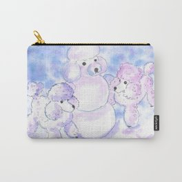 Poodles in Snow Carry-All Pouch