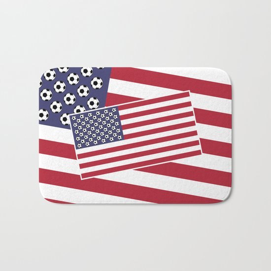 United States of Soccer Bath Mat