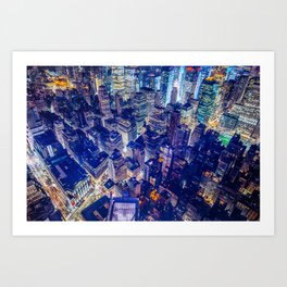 Colorful New York City Skyline Art Print