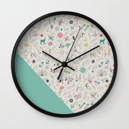 Pez Otomi mint by Ana Kane Wall Clock