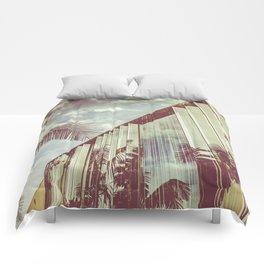 Beverly Hills - Palm Reflections III Comforters