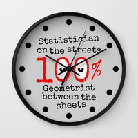 math Wall Clocks featuring Math Geek by mailboxdisco
