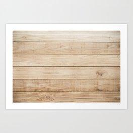 Wood plank texture 2 Art Print