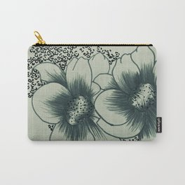 Floral Vb Carry-All Pouch