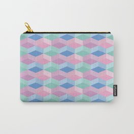 Pastel Cubes Carry-All Pouch