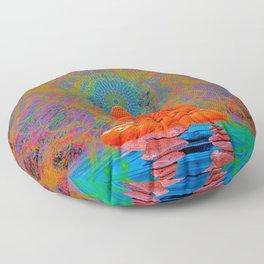 Cool Water Zen (Ultraviolet) (psychedelic, meditation) Floor Pillow