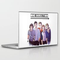 one direction Laptop & iPad Skins featuring One Direction by Nowhere Little Girl