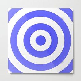 Target (Azure & White Pattern) Metal Print