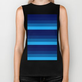 blue stripes Biker Tank