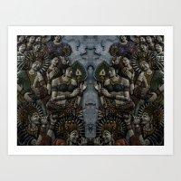 buddhism Art Prints featuring Buddhism by gustav butlex