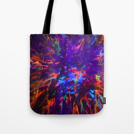 Creamy Spill Black Light Tote Bag