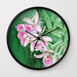 Orchid Cascade Wall Clock