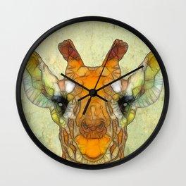 abstract giraffe calf Wall Clock