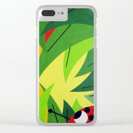 Flowers - Paint Clear iPhone Case